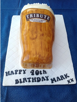 40th Novelty Beer Birthday Cake