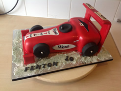 Racing Car Novelty Birthday Cake