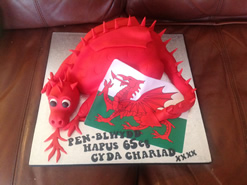 Welsh Dragon Novelty Birthday Cake