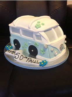 Campervan 50th  Birthday Cake