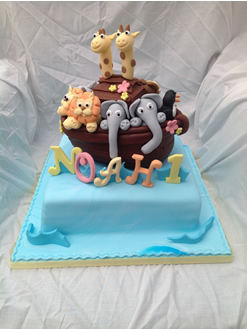 Noah's Ark Birthday Cake