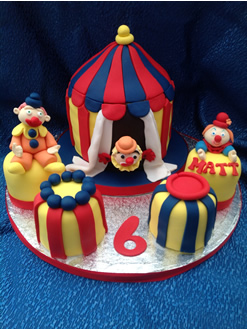 Circus Clowns Novelty Birthday Cake