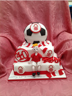40th Football Birthday Cake