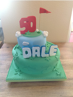 50th Golf Birthday Cake