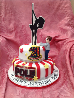Poledancer Birthday Cake