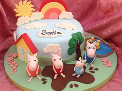 Peppa Pig Novelty Birthday Cake
