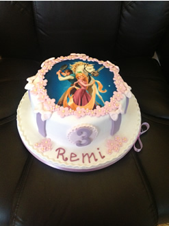 Tangled Disney Birthday Cake