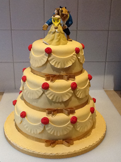 Beauty and the Beast Tiered Cake