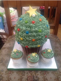 Giant Cupcake designed like a Tree