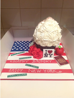 I love New York Giant Cupcake