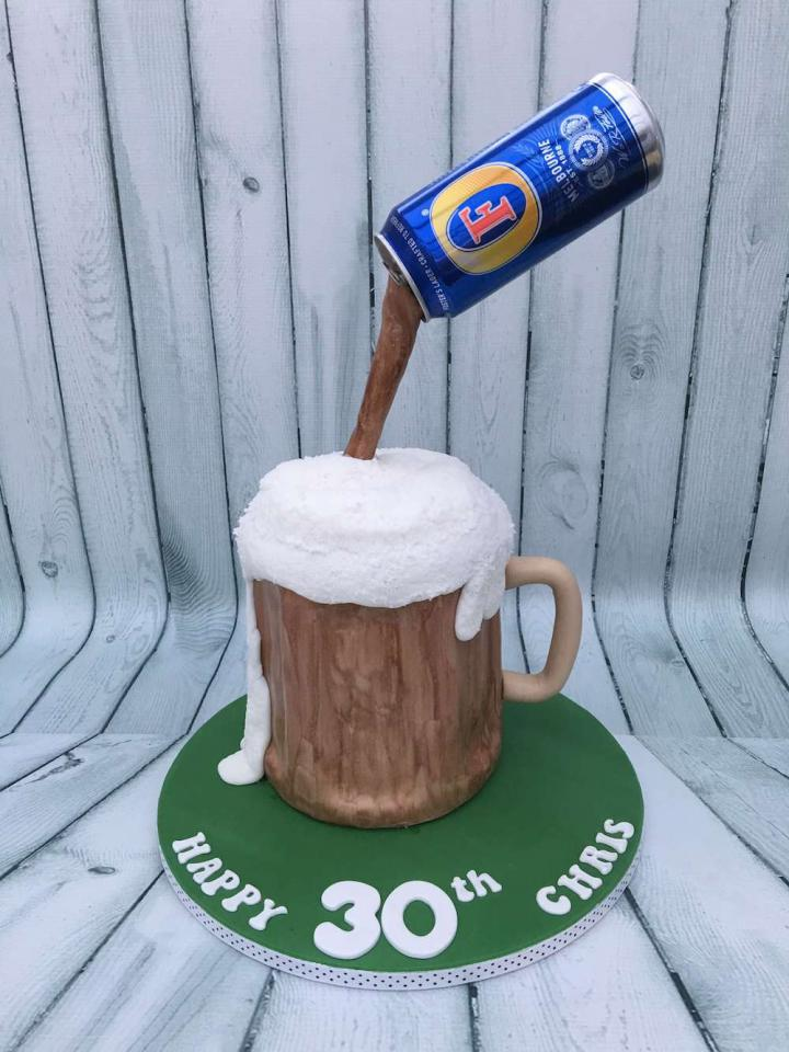 30th Birthday Cake - Beer theme