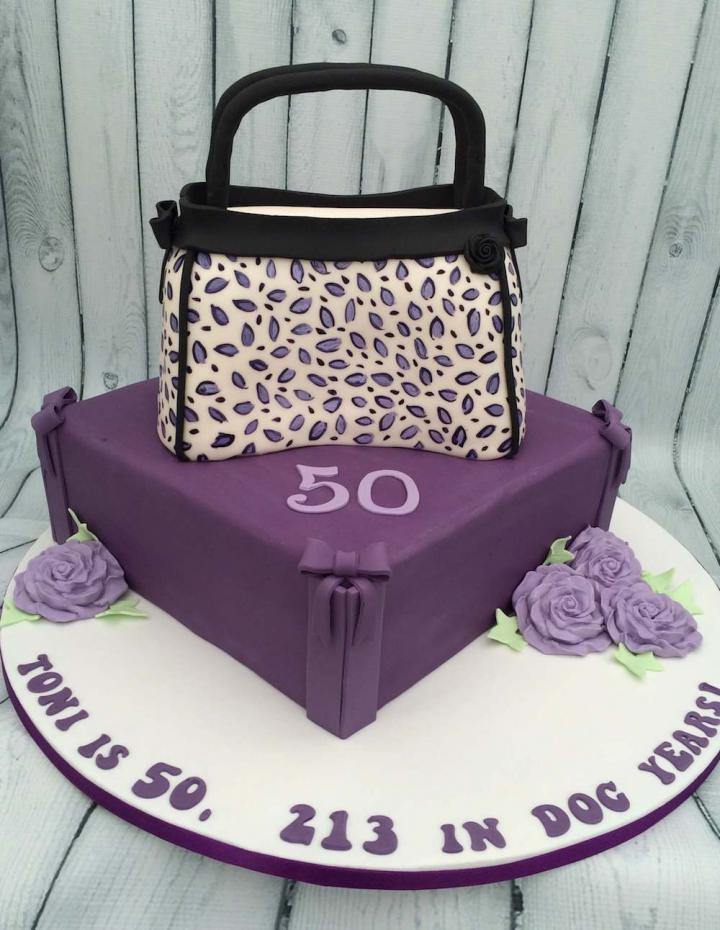 50th Birthday Handbag Cake