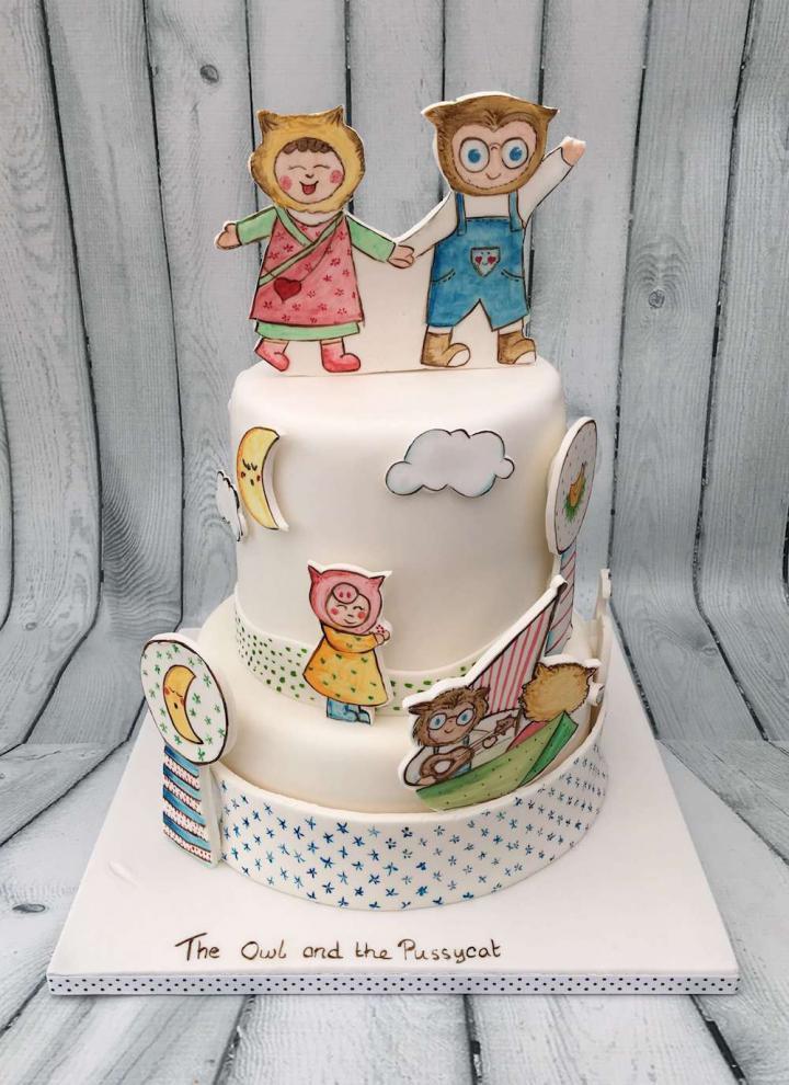 Owl and the Pussycat Celebration Cake