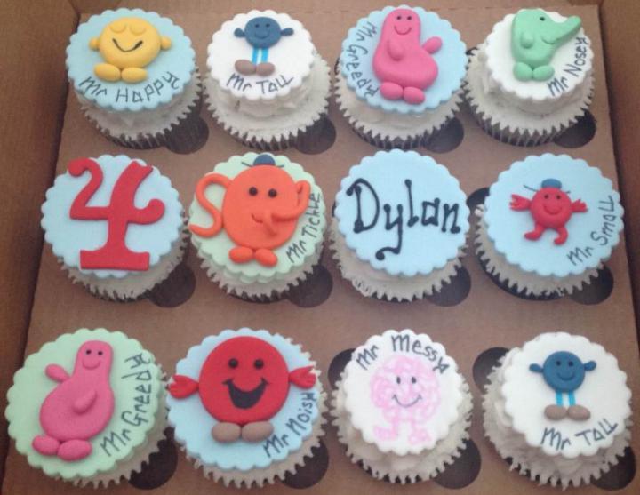 Mr Men Birthday Cupcakes