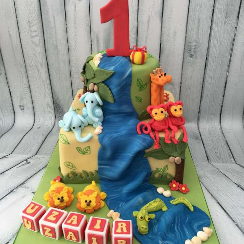 Animal Cake for a 1st Birthday