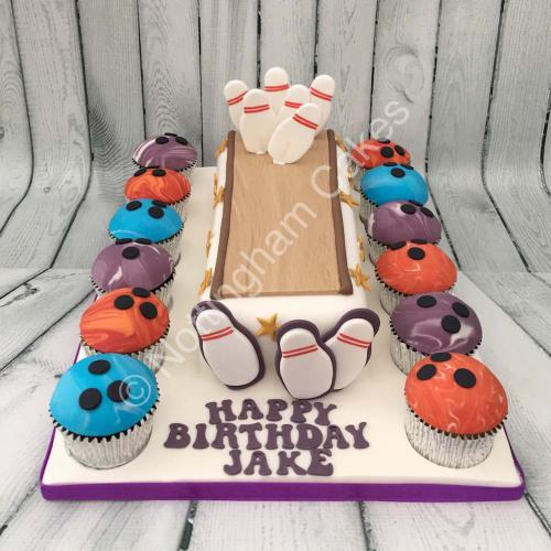 Bowling Alley Birthday Cake