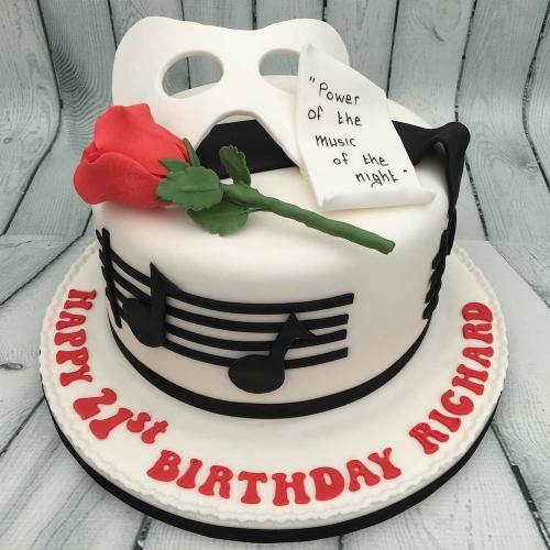 Phantom of the Opera Birthday Cake