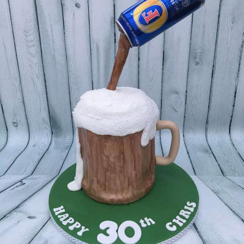30th Birthday Cake - Beer theme
