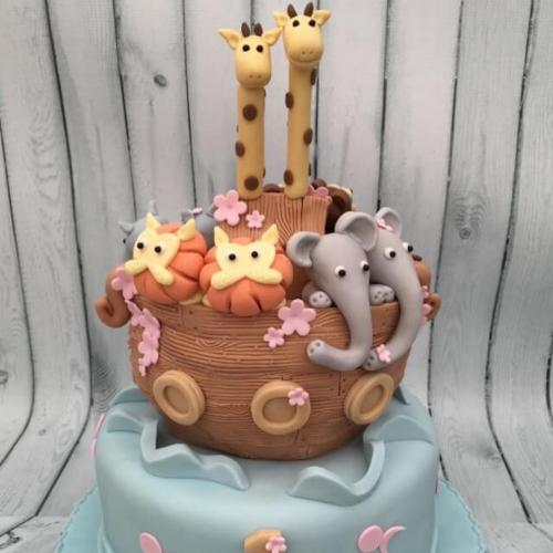 Ark Birthday Cake for Twins