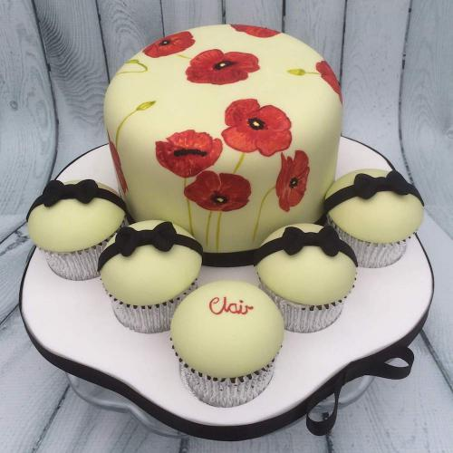 Poppy Cake and Cupcakes